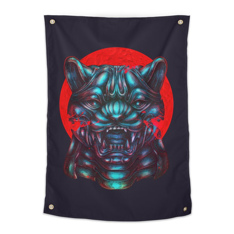 Blood Moon Panther Home Tapestry by villainmazk's Artist Shop