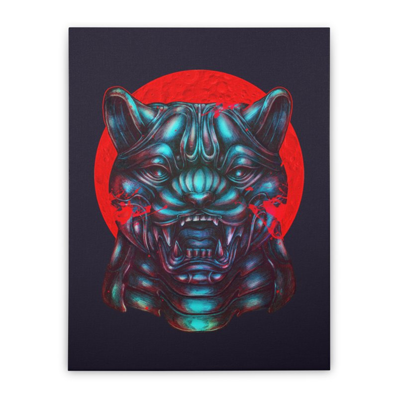 Blood Moon Panther Home Stretched Canvas by villainmazk's Artist Shop