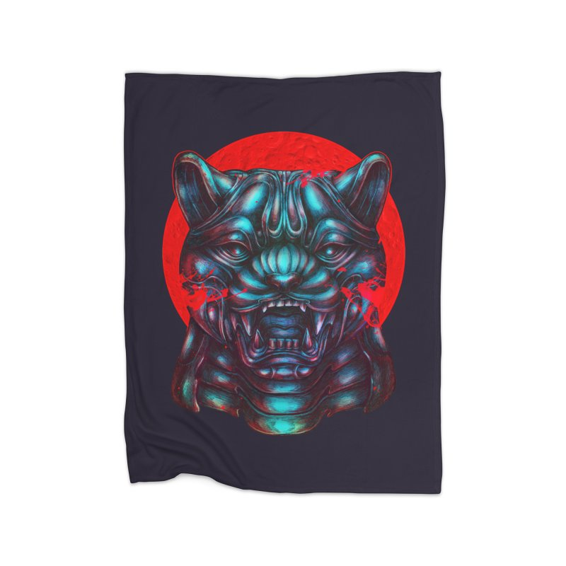 Blood Moon Panther Home Fleece Blanket Blanket by villainmazk's Artist Shop