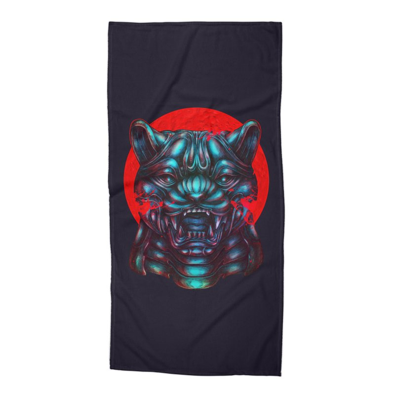 Blood Moon Panther Accessories Beach Towel by villainmazk's Artist Shop
