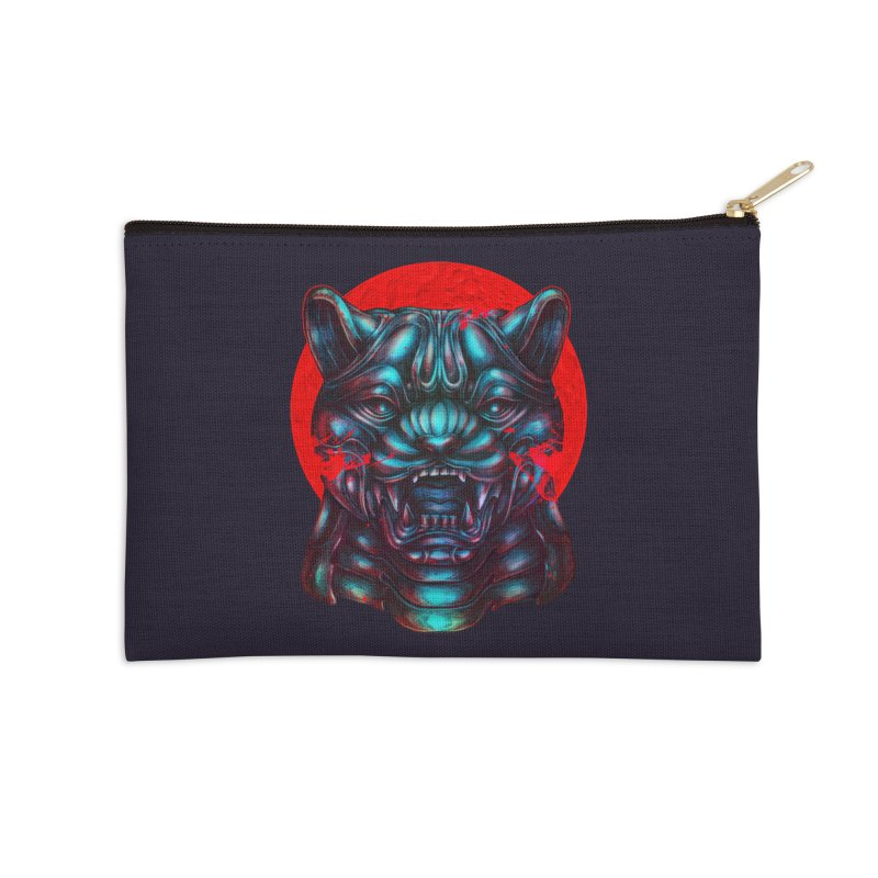 Blood Moon Panther Accessories Zip Pouch by villainmazk's Artist Shop