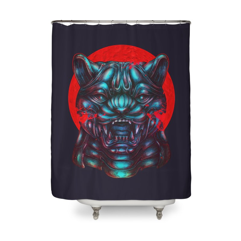 Blood Moon Panther Home Shower Curtain by villainmazk's Artist Shop