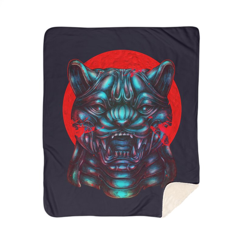 Blood Moon Panther Home Sherpa Blanket Blanket by villainmazk's Artist Shop