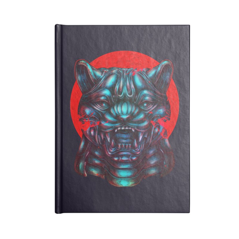 Blood Moon Panther Accessories Lined Journal Notebook by villainmazk's Artist Shop