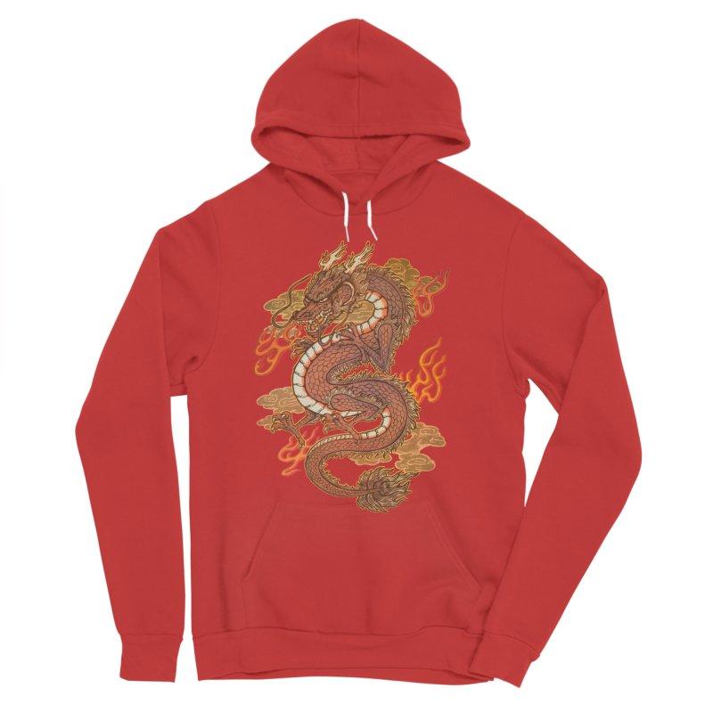 Golden Dragon Women's Pullover Hoody by villainmazk's Artist Shop