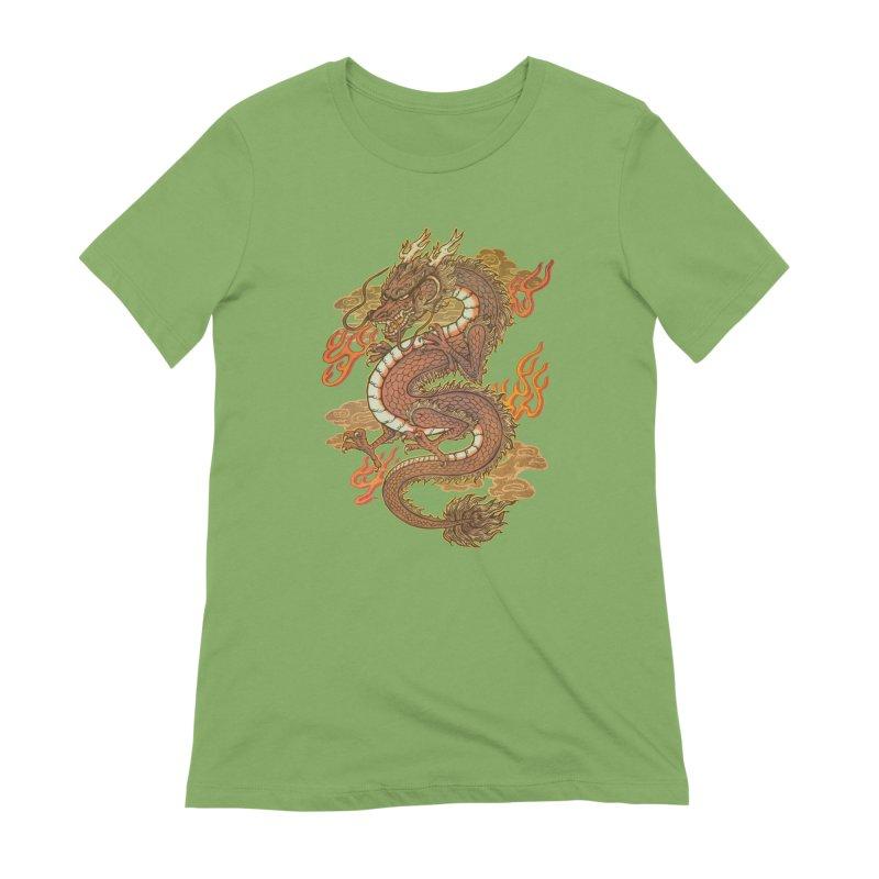 Golden Dragon Women's Extra Soft T-Shirt by villainmazk's Artist Shop