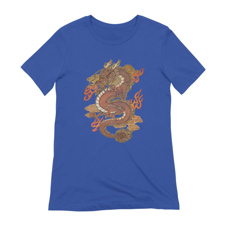 Golden Dragon Women's Extra Soft T-Shirt by villainmazk's Artist Shop