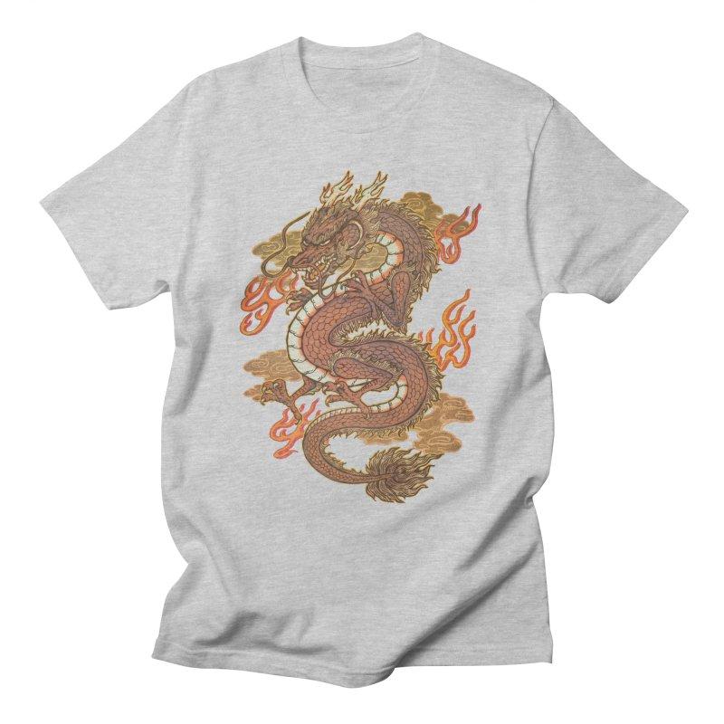 Golden Dragon Men's T-Shirt by villainmazk's Artist Shop