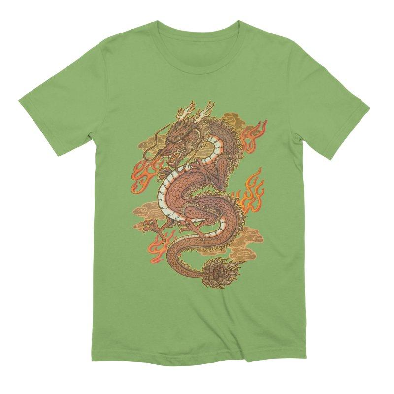 Golden Dragon Men's Extra Soft T-Shirt by villainmazk's Artist Shop