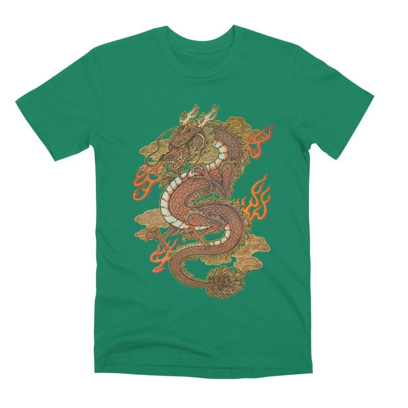 Golden Dragon Men's Premium T-Shirt by villainmazk's Artist Shop
