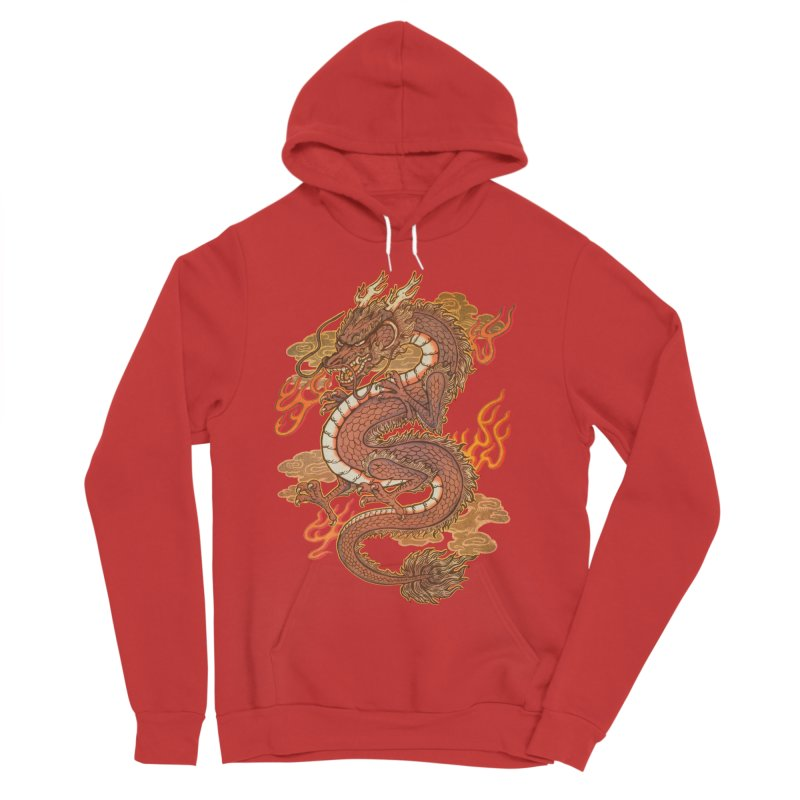Golden Dragon Women's Sponge Fleece Pullover Hoody by villainmazk's Artist Shop