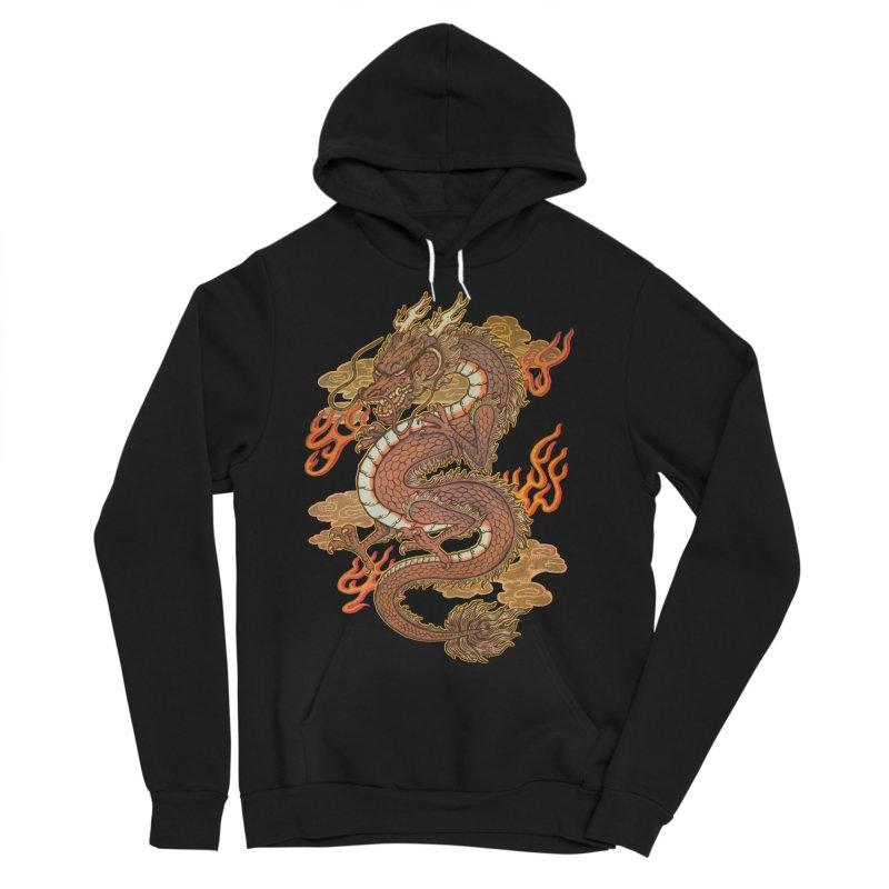 Golden Dragon Men's Sponge Fleece Pullover Hoody by villainmazk's Artist Shop