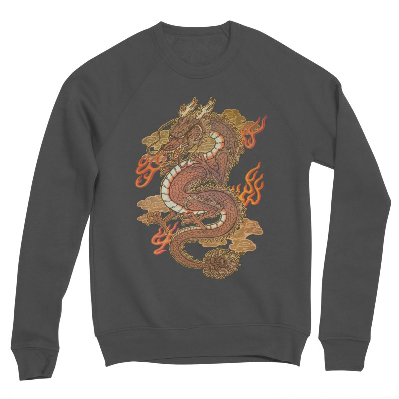 Golden Dragon Women's Sponge Fleece Sweatshirt by villainmazk's Artist Shop