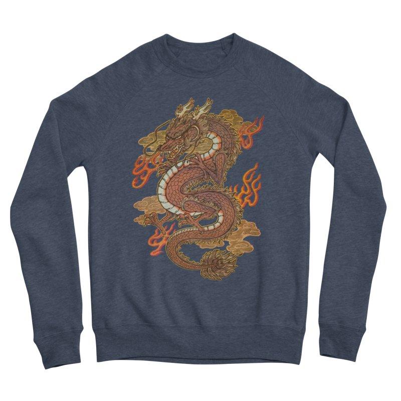 Golden Dragon Women's Sponge Fleece Sweatshirt by villainmazk's Artist Shop
