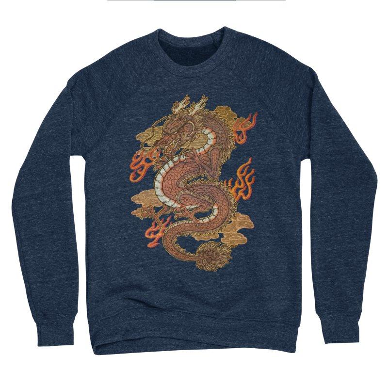 Golden Dragon Men's Sponge Fleece Sweatshirt by villainmazk's Artist Shop