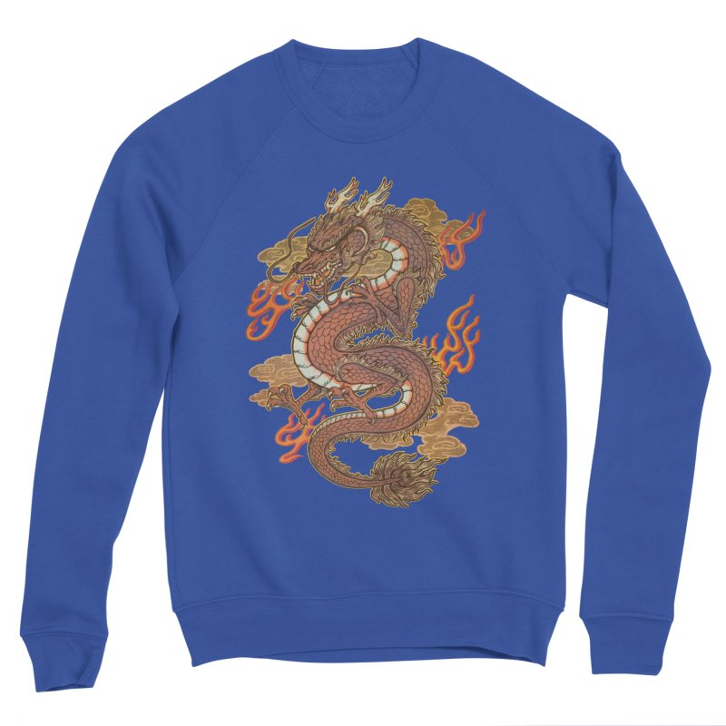 Golden Dragon Men's Sponge Fleece Sweatshirt by villainmazk's Artist Shop