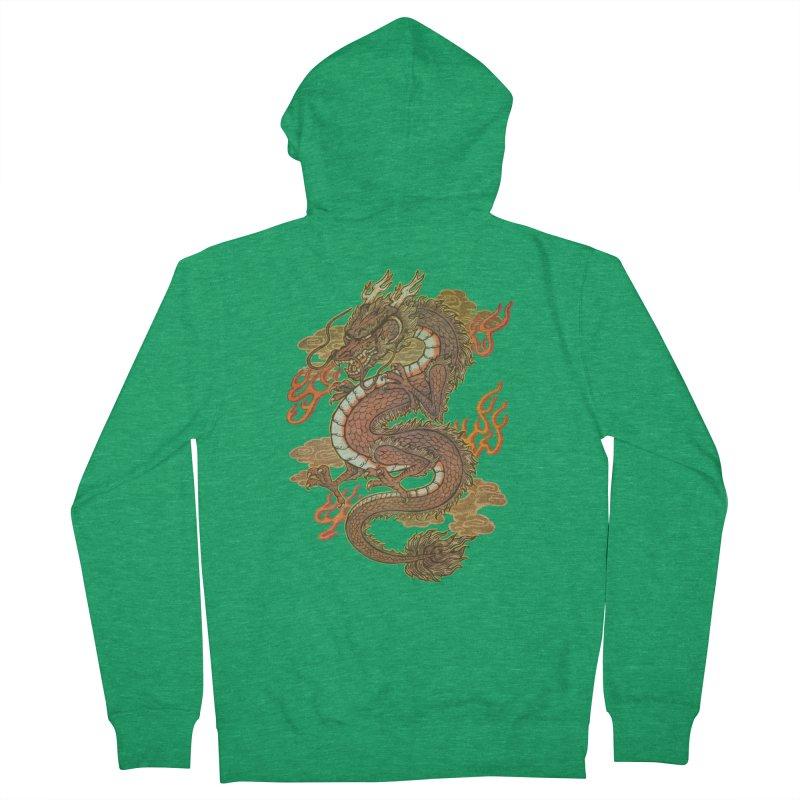 Golden Dragon Men's Zip-Up Hoody by villainmazk's Artist Shop