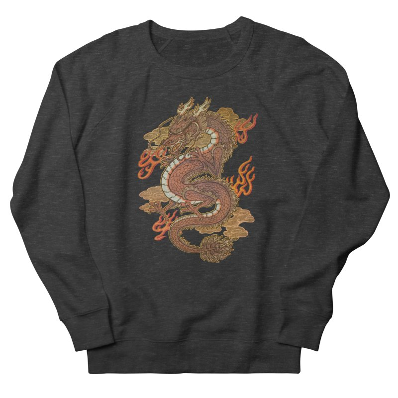 Golden Dragon in Men's French Terry Sweatshirt Smoke by villainmazk's Artist Shop