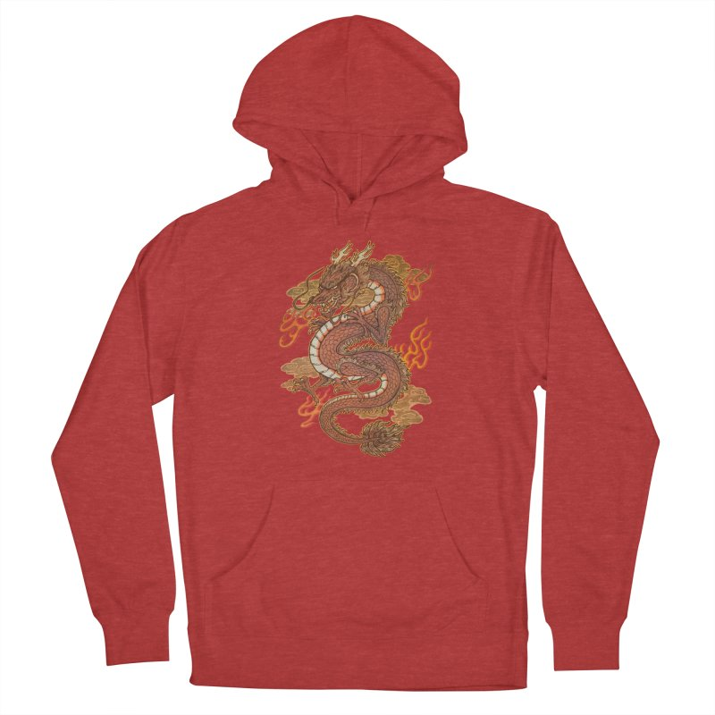 Golden Dragon Women's French Terry Pullover Hoody by villainmazk's Artist Shop