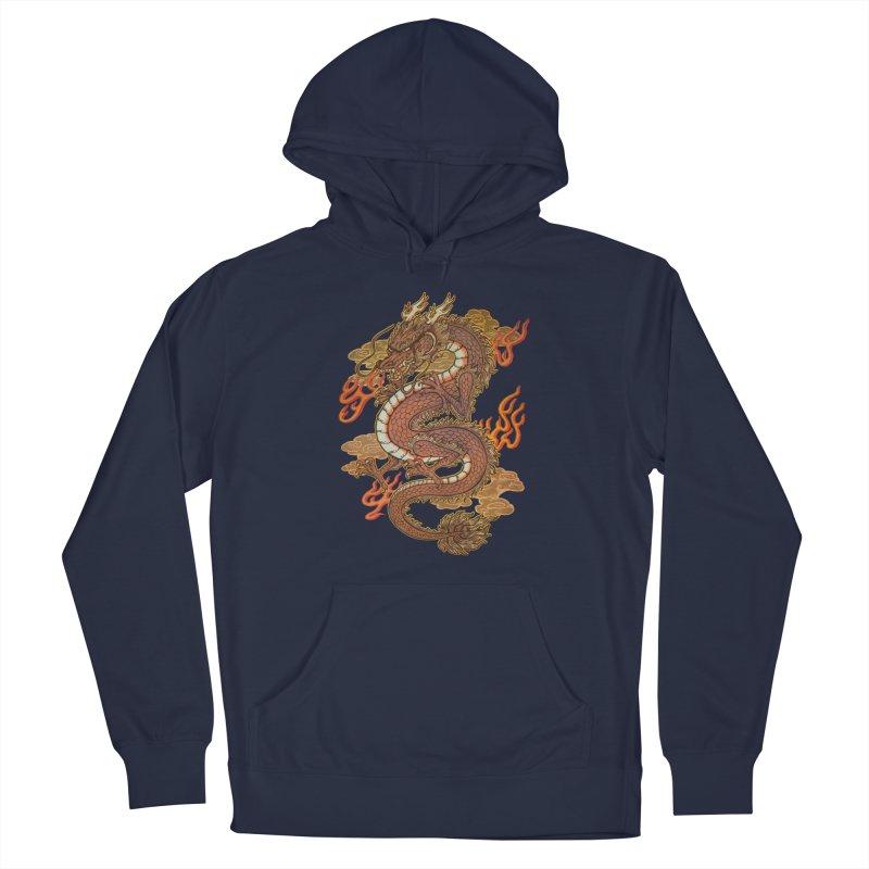 Golden Dragon Men's Pullover Hoody by villainmazk's Artist Shop