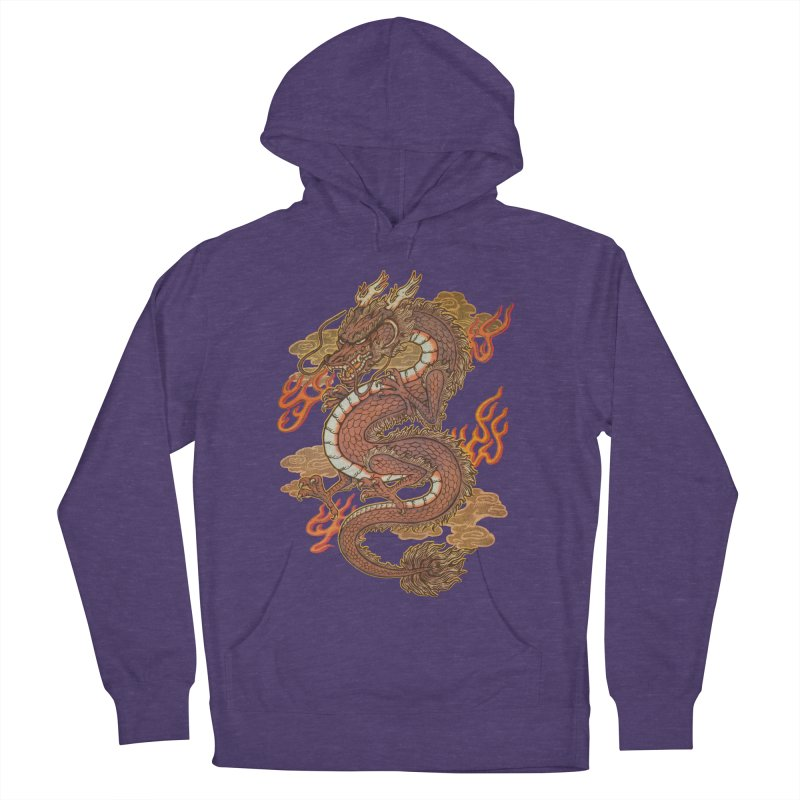 Golden Dragon Men's French Terry Pullover Hoody by villainmazk's Artist Shop