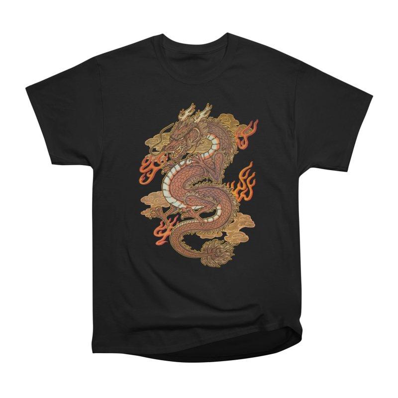 Golden Dragon Men's Heavyweight T-Shirt by villainmazk's Artist Shop