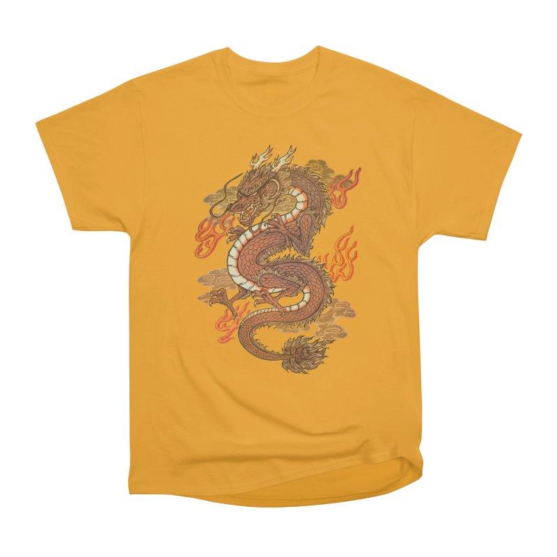 Golden Dragon Women's Heavyweight Unisex T-Shirt by villainmazk's Artist Shop