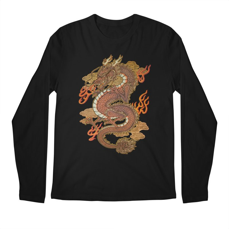 Golden Dragon Men's Regular Longsleeve T-Shirt by villainmazk's Artist Shop