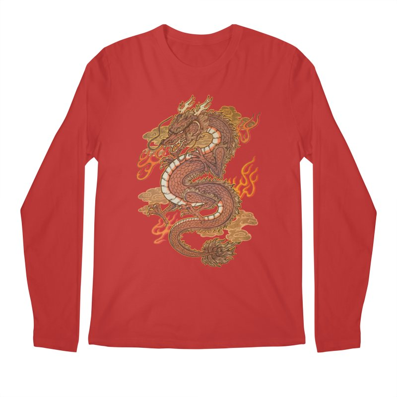 Golden Dragon Men's Regular Longsleeve T-Shirt by villainmazk's Artist Shop