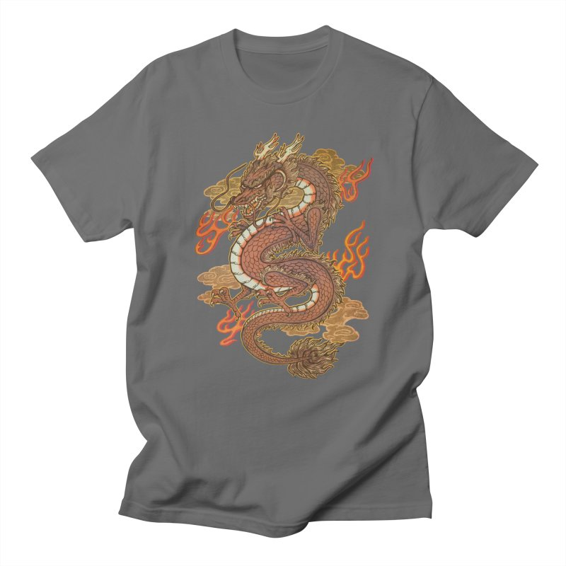 Golden Dragon Men's T-Shirt by villainmazk's Artist Shop