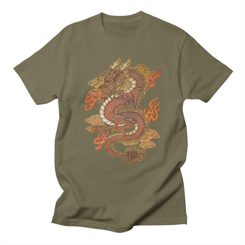 Golden Dragon Men's Regular T-Shirt by villainmazk's Artist Shop