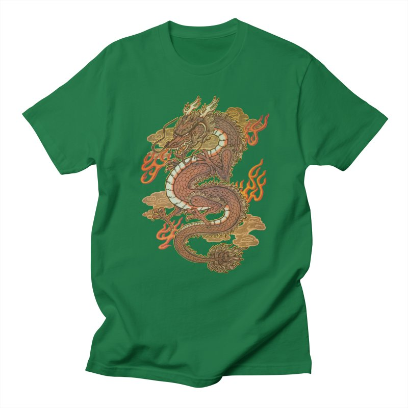 Golden Dragon Men's Regular T-Shirt by villainmazk's Artist Shop