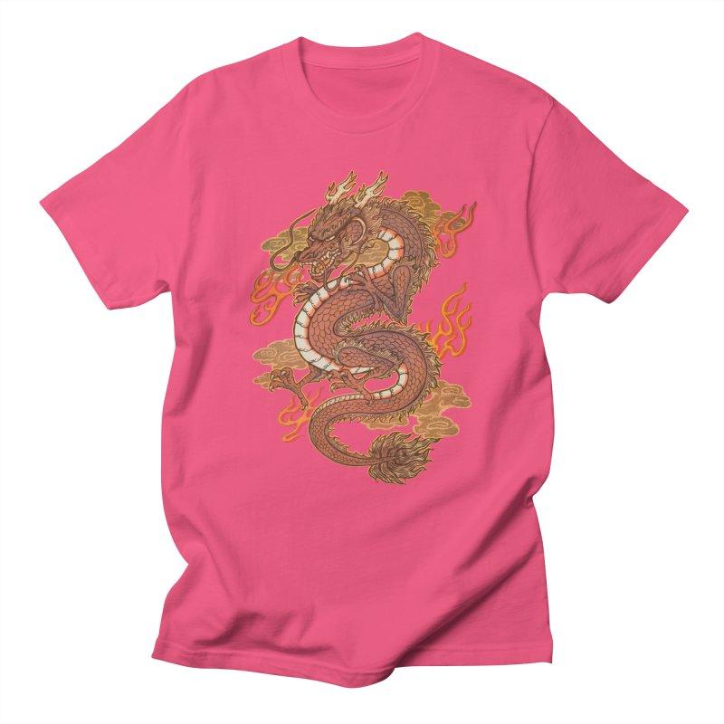 Golden Dragon Women's Regular Unisex T-Shirt by villainmazk's Artist Shop