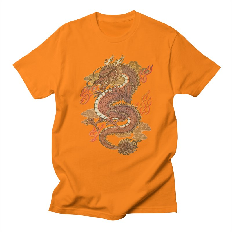 Golden Dragon Women's Regular Unisex T-Shirt by villainmazk's Artist Shop
