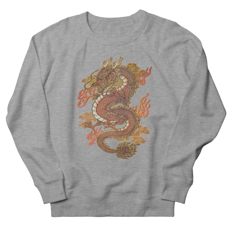 Golden Dragon Women's French Terry Sweatshirt by villainmazk's Artist Shop