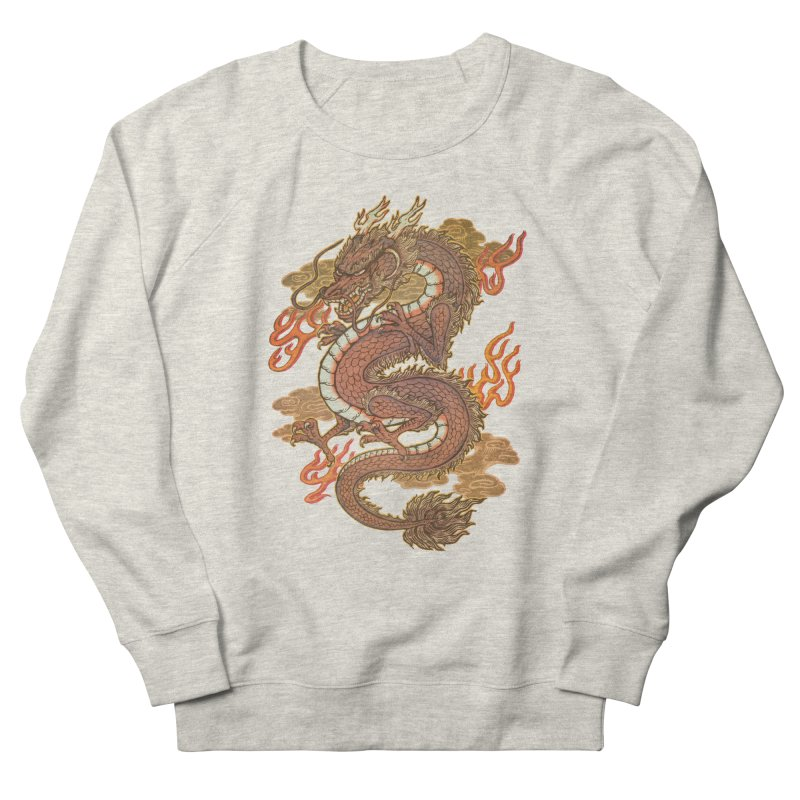 Golden Dragon Women's French Terry Sweatshirt by villainmazk's Artist Shop