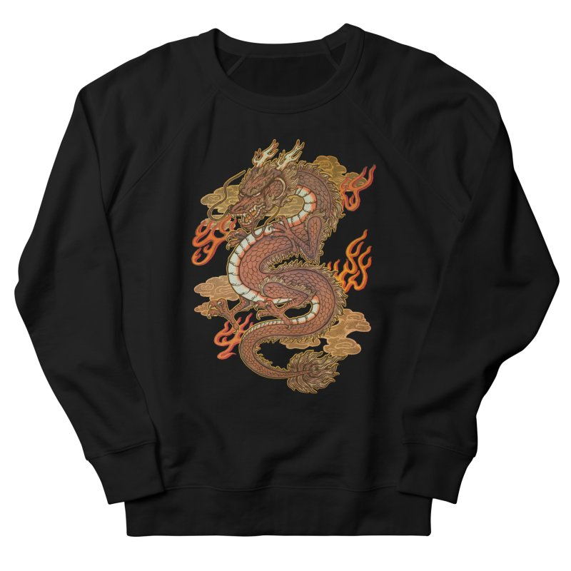 Golden Dragon Men's French Terry Sweatshirt by villainmazk's Artist Shop