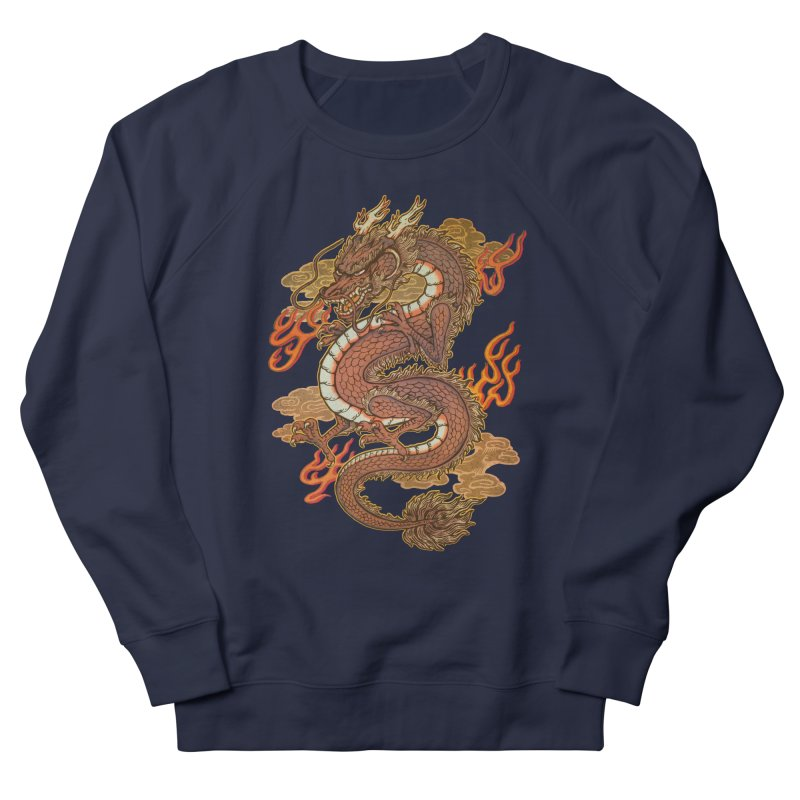 Golden Dragon Men's French Terry Sweatshirt by villainmazk's Artist Shop