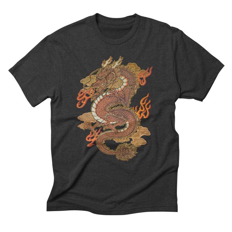 Golden Dragon Men's Triblend T-Shirt by villainmazk's Artist Shop