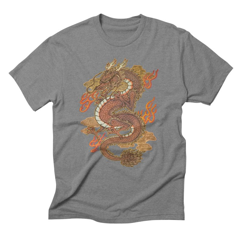 Golden Dragon Men's Triblend T-Shirt by villainmazk's Artist Shop