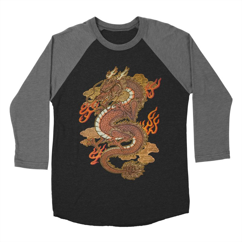 Golden Dragon Women's Baseball Triblend Longsleeve T-Shirt by villainmazk's Artist Shop