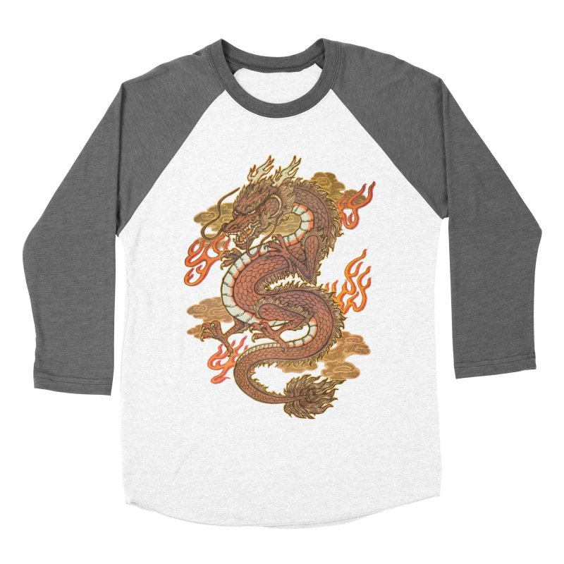 Golden Dragon Men's Baseball Triblend Longsleeve T-Shirt by villainmazk's Artist Shop