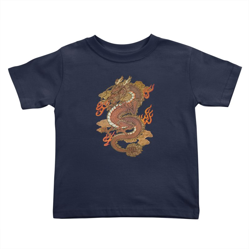 Golden Dragon Kids Toddler T-Shirt by villainmazk's Artist Shop