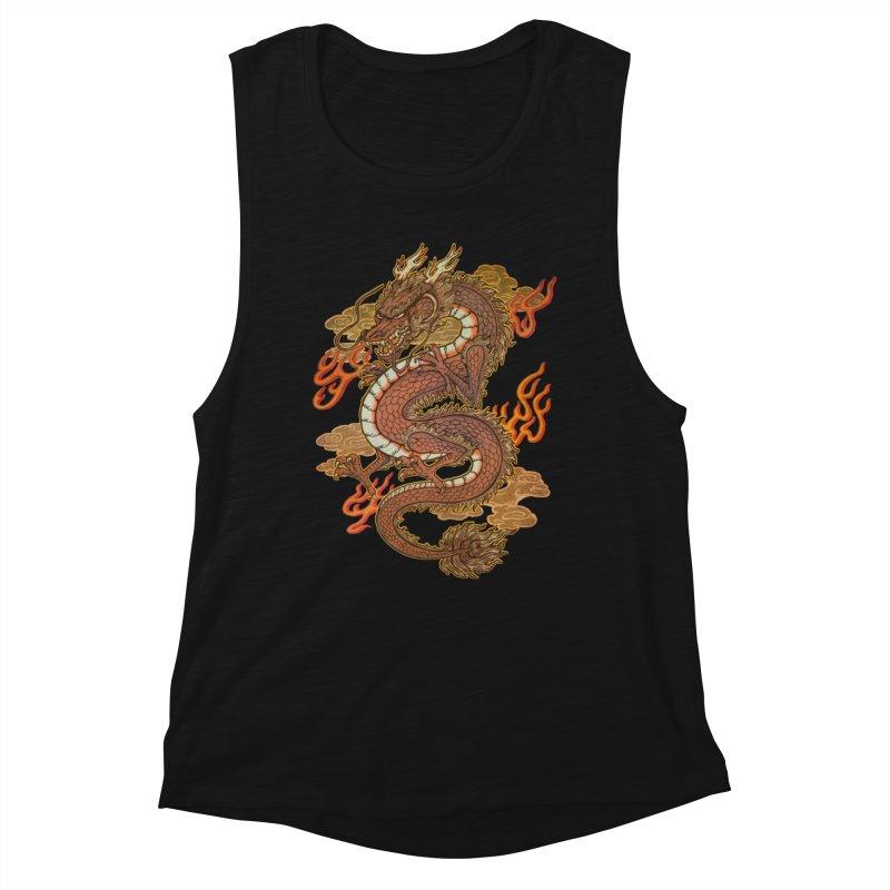 Golden Dragon Women's Tank by villainmazk's Artist Shop
