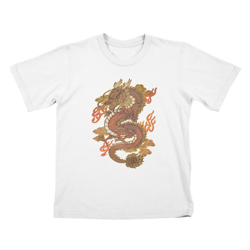 Golden Dragon Kids T-Shirt by villainmazk's Artist Shop
