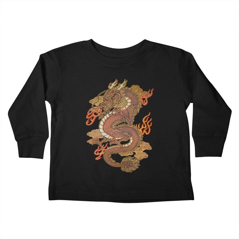 Golden Dragon Kids Toddler Longsleeve T-Shirt by villainmazk's Artist Shop