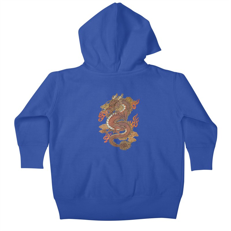 Golden Dragon Kids Baby Zip-Up Hoody by villainmazk's Artist Shop