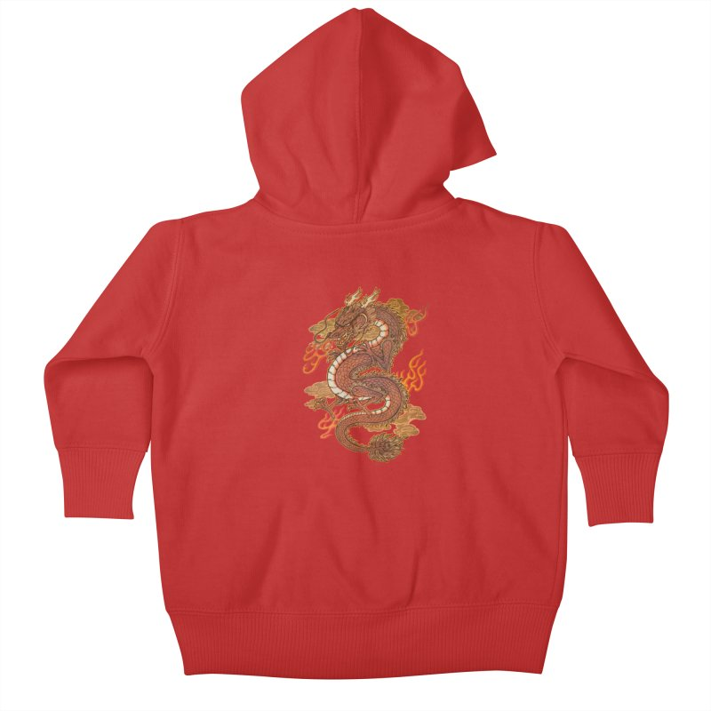 Golden Dragon Kids Baby Zip-Up Hoody by villainmazk's Artist Shop