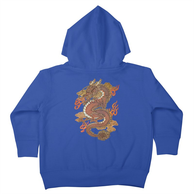 Golden Dragon Kids Toddler Zip-Up Hoody by villainmazk's Artist Shop