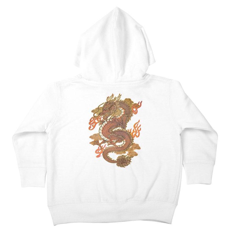 Golden Dragon Kids Toddler Zip-Up Hoody by villainmazk's Artist Shop
